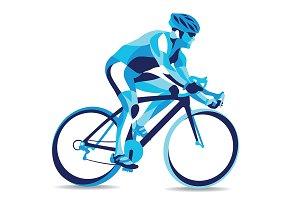 Stylized Cyclist