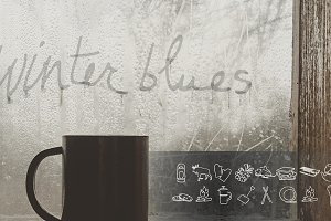 Winter Blues Icon Set