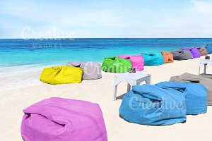 colorful chair on the beach
