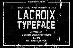 Lacroix Handcrafted Vintage Typeface