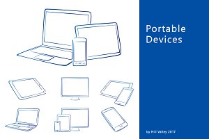 Hand drawn digital devices