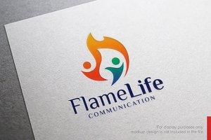 Flame People Fire Logo