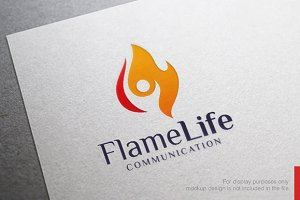 Flame People Fire Logo