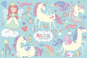 Unicorns & Magical Design Elements