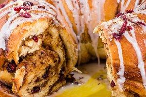 Hazelnut cranberry cake