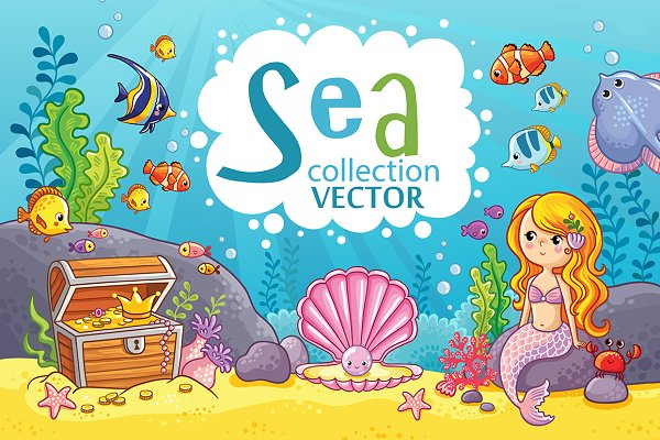Vector Nautical Sea Set