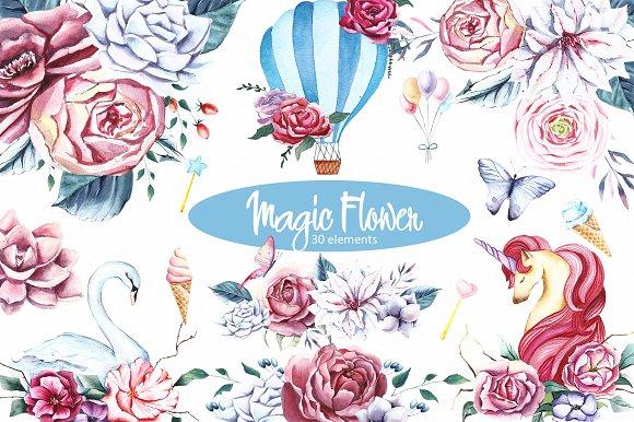 Magic Flower Clipart