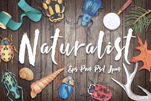 Naturalist - scientific design set