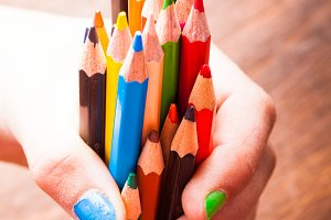 The Color pencils
