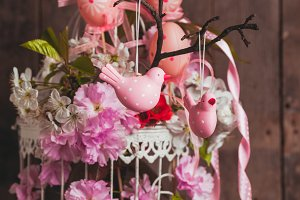 The spring decor