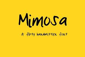 Mimosa Handwritten Font
