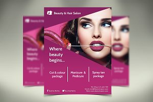 Beauty Hair Salon Flyer - SK