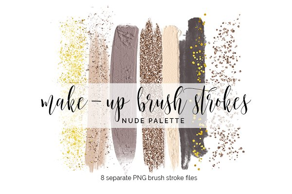 Make-Up Brush Strokes Clipart - nud…