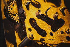 Vintage clock mechanism