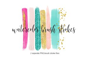 Make-Up Brush Strokes Clipart