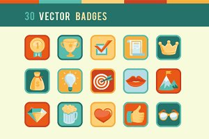 30 Vector Community Badges and Award