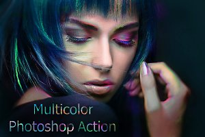 Multicolor Photoshop Action
