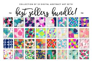 Abstract Watercolor Background Sets