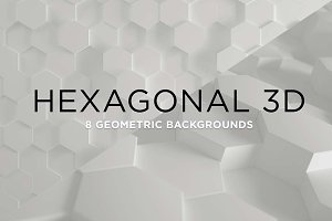 3D Geometric Background - Hexagons