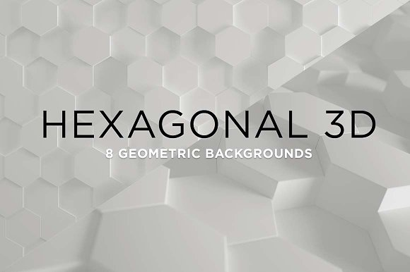 3D Geometric Background Hexagons