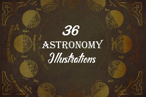 36 Vintage Astronomy Illustrations