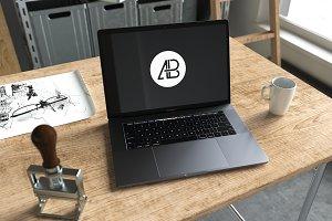 2016 Macbook Pro Mockup