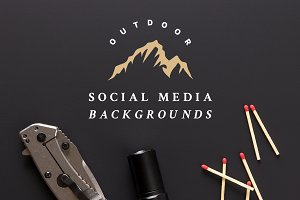 Outdoor Social Media Background Pack