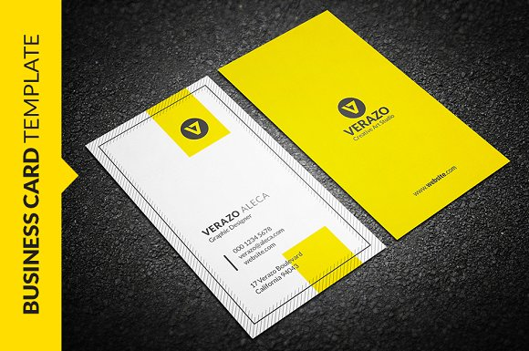 Clean vertical business card business card templates creative market accmission