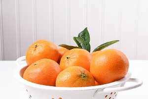 Mandarin Oranges in Colander