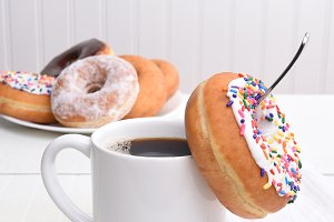 Coffee and Donuts Still Life