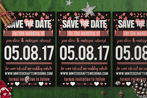 Save The Date Chalk Style