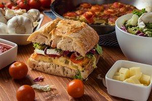 frittata ciabatta sandwich