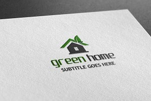 Green Home Style Logo