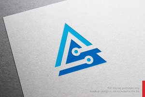 Network Letter A S Logo