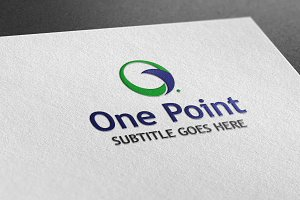 One Point  Style Logo
