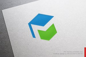 Hexagon Letter M Logo