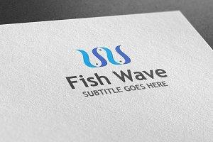 Fish Wave Style Logo