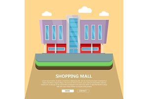 Shopping Mall Web Template in Flat Design
