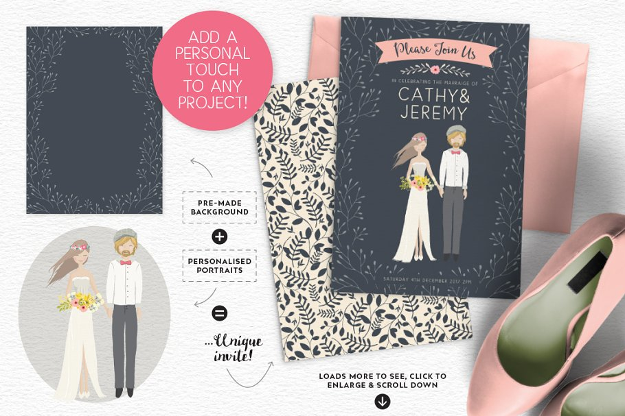 Personalised Portrait Creator in Illustrations - product preview 29