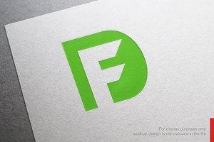 Letter F D Logo