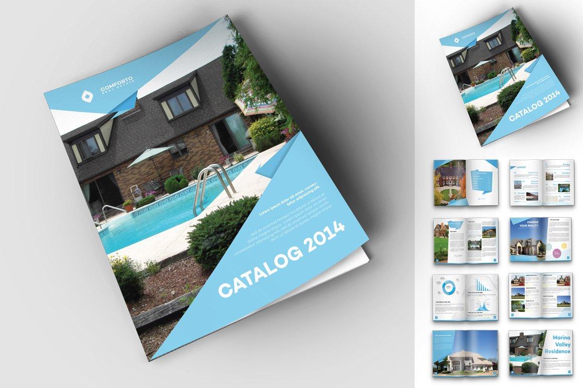 Origami real estate travel catalog magazine templates Free home design catalogs