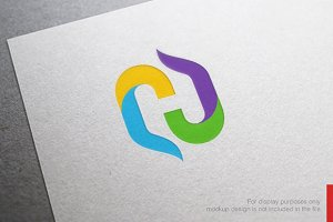 Colorful Letter H Logo