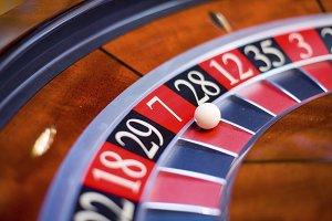 roulette segment in casino.