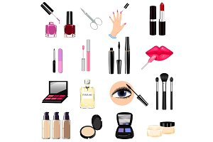 Seth cosmetics, manicure, beauty, perfumes icons