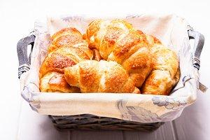 The fresh croissants