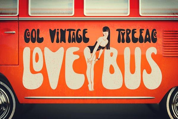Lovebus font + graphics