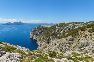 Panorama Mountain cliff.
