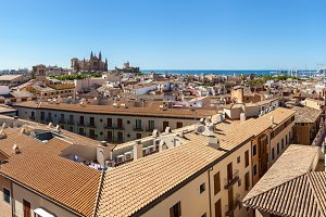 Panorama View of Palma de Mallorca