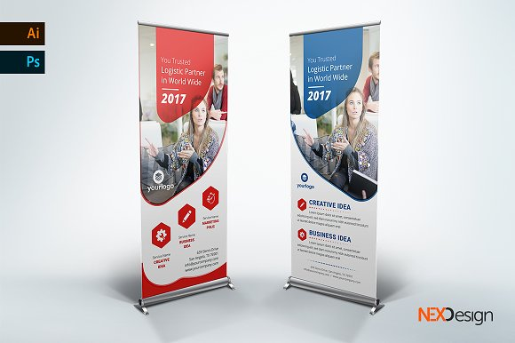 Business Rollup Banner - ne-Graphicriver中文最全的素材分享平台