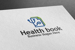 Health Book Style Logo